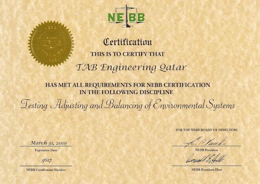 Tab Engineering Certificates
